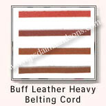 Buff Leather Heavy Belting Cords