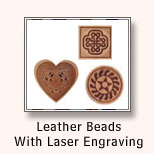 Leather Beads With Laser Engraving