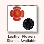Leather Flowers Shapes Available