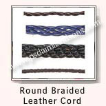 Round Braided Leather Cords