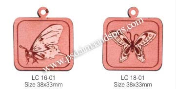 LEATHER CHARMS WITH LASER ENGRAVING