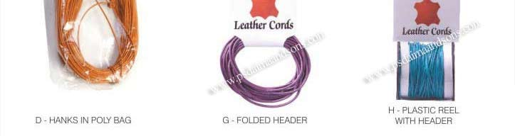 Packaging Available for Leather Cords