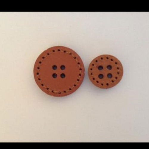 REAL SUEDE LEATHER BUTTON & TOGGLES